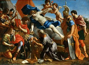 Giovanni Francesco Romanelli - Venus Pouring a Balm on the Wound of Aeneas, Louvre
