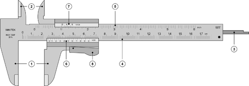 wikipedia featured picture candidates vernier caliper wikipedia rh en wikipedia org Types of Engineering Diagram Vernier Caliper with Parts Diagram