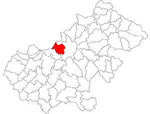 Vetiș - Location of Vetiș in Satu Mare County