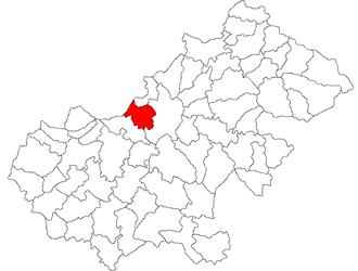 Vetiș - Location of Vetiș in Satu Mare County