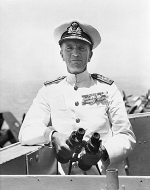 William Tennant (Royal Navy officer) - Image: Vice Admiral Tennant 1945 IWM A 29072