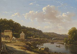 A view of the Seine and the Coteaux de Suresnes