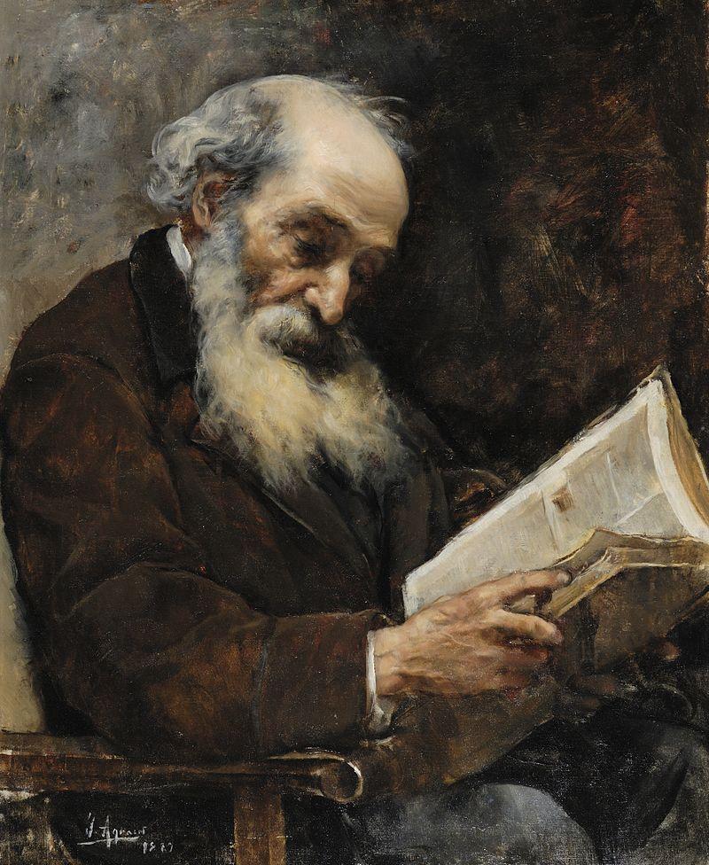 Viejo leyendo un libro - Joaquín Agrasot.jpg