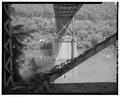 View North, Pier detail - Chelyan Bridge, Spanning Kanawha River at U.S. Route 61 spur, Chelyan, Kanawha County, WV HAER WVA,20-CHEY,1-10.tif