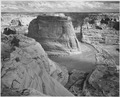 "View of valley from mountain, ""Canyon de Chelly"" National Monument, Arizona., 1933 - 1942 - NARA - 519852.tif"
