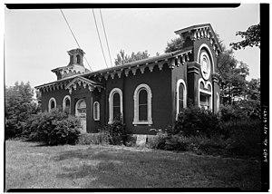 Lowertown Historic District (Lockport, New York) - Image: Vine St School
