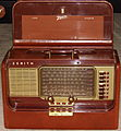 Vintage Zenith Transoceanic Radio, Brown Leather, Model L600, Broadcast Plus Short Wave Bands, 5 Tubes, Circa 1954 - 1955 (14914989901).jpg