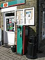 Vintage petrol pump at Rookhope Post Office - geograph.org.uk - 729861.jpg