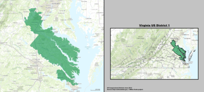 Virginia's 1st congressional district - since January 3, 2013.