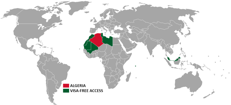 Visa policy of Algeria - Wikipedia