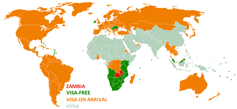 Visa policy of Zambia - Wikipedia