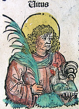 Vitus - Saint Vitus, from the Nuremberg Chronicle, 1493