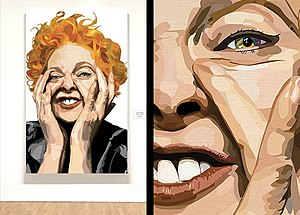 Biagio Black - Westwood (2009). The painting's subject is fashion designer Vivienne Westwood.