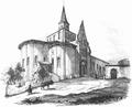 Vouvant église Notre-Dame, croquis du Comte Émilien Rorthay de Monbail.png