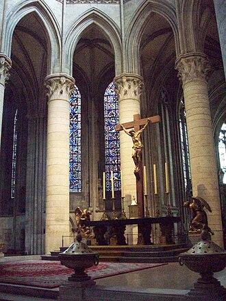 André Bizette-Lindet - Image: Vue du choeur de la cathédrale