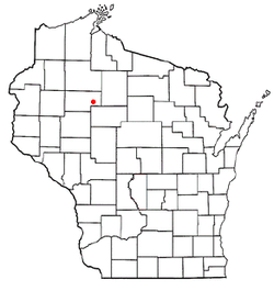 Location of Lawrence, Rusk County, Wisconsin