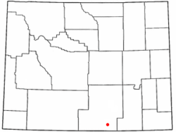 Location of Grand Encampment, Wyoming