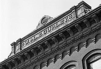 W. & L. E. Gurley Building - Image: W L E Gurley Building Company Name Detail HAER cropped