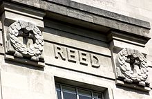 Walter Reed's name as it features on the LSHTM Frieze