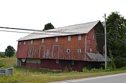 State Route 97 barn northwest of Bellville