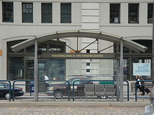 Washington and The Embarcadero station - Washington and The Embarcadero station, 2008