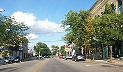 Downtown Waterloo on Highways 89/19, part of the Waterloo Downtown Historic District.