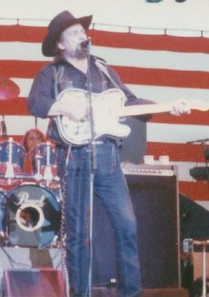 Waylon Jennings - Waylon Jennings in concert, playing his custom 1953 Fender Telecaster