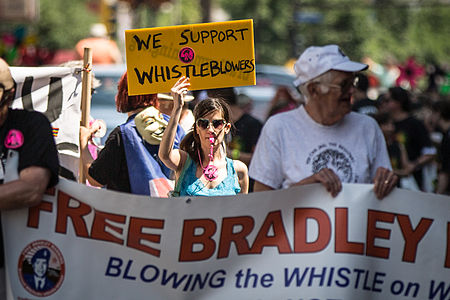 We Support Whistleblowers Free Bradley Chelsea Manning 2013 Twin Cities Pride Parade Minneapolis 9181428436.jpg