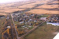 Aerial view of Weldon Saskatchewan