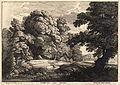 Wenceslas Hollar - The bridge over the waterfall (Jacques van Artois) (State 1).jpg