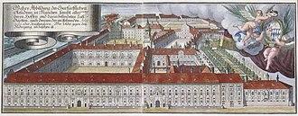 Munich Residenz - Munich Residenz in the 18th century