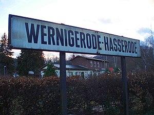 Hasserode - Wernigerode-Hasserode station