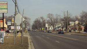 West Monroe, Michigan - West Monroe looking east along M-50