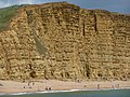 West Bay, East Cliff and beach - geograph.org.uk - 1364941.jpg