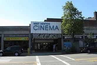 West Newton, Massachusetts - The West Newton Theater in the heart of West Newton village