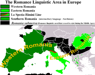 African Romance - Map showing in black the coast of Maghreb where there existed a now-extinct neo-Latin language