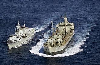 HMAS Westralia (O 195) - Image: Westralia and Regina