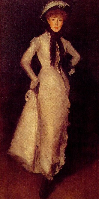 Maud Franklin - Arrangement in White and Black, James McNeill Whistler, 1876. Freer Gallery of Art, Washington, D.C..