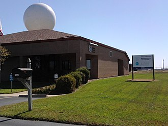 Wichita Dwight D. Eisenhower National Airport - National Weather Service office, located west of the runways along Tyler Road (2010)
