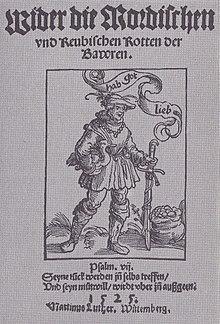 Wider die mörderischen und räuberischen Rotten der Bauern (Druck von Hans Hergot, Nürnberg 1525) (Quelle: Wikimedia)