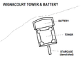 Wignacourt Tower & Battery map.png
