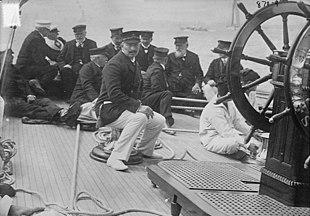 Guglielmo II sullo yacht Meteor nel 1913