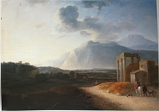 Landscape with the Stromboli vulcan