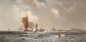 William Anslow Thornley - A busy channel.jpg