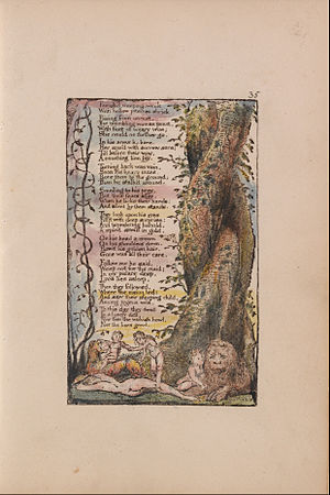 "The Little Girl Found - Image: William Blake Songs of Innocence and of Experience, Plate 35, ""The Little Girl Found"" (Bentley 36) Google Art Project"