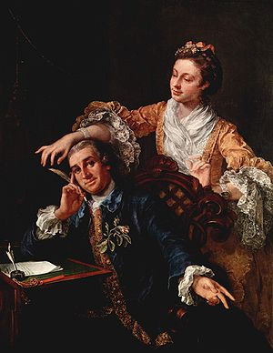 David Garrick and his wife, Eva Marie Veigel, ...