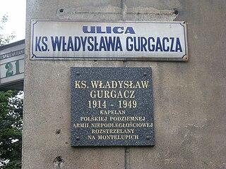 Władysław Gurgacz Polish priest and resistance fighter