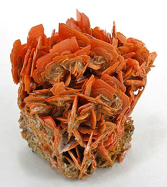 Wulfenite - Image: Wulfenite tcw 02a