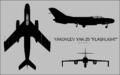 Yakovlev Yak-25 three-view silhouette.png