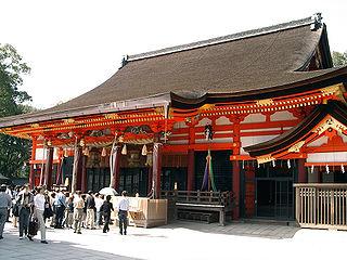Shinto shrine in Kyoto, Japan